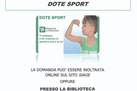 DOMANDA DOTE SPORT